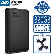 Elementos wd 500gb portátil disco rígido externo usb 3.0 hd hdd capacidade sata dispositivo de armazenamento original para computador ps4 tv