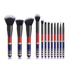 цена на 12Pcs Professional Starlight Goddess Makeup Brushes Set Foundation Blending Eyeshadow Kit lip Powder Liquid Cream Brush