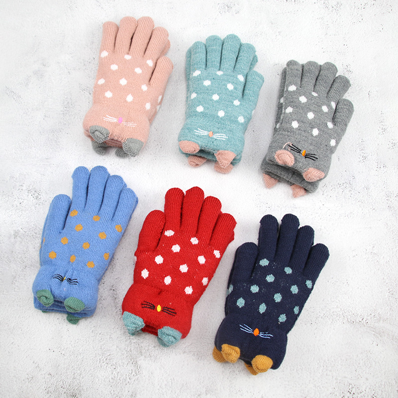 Kids Girl Winter Gloves Full Fingers Warm Thick Winter Gloves For Children Boy