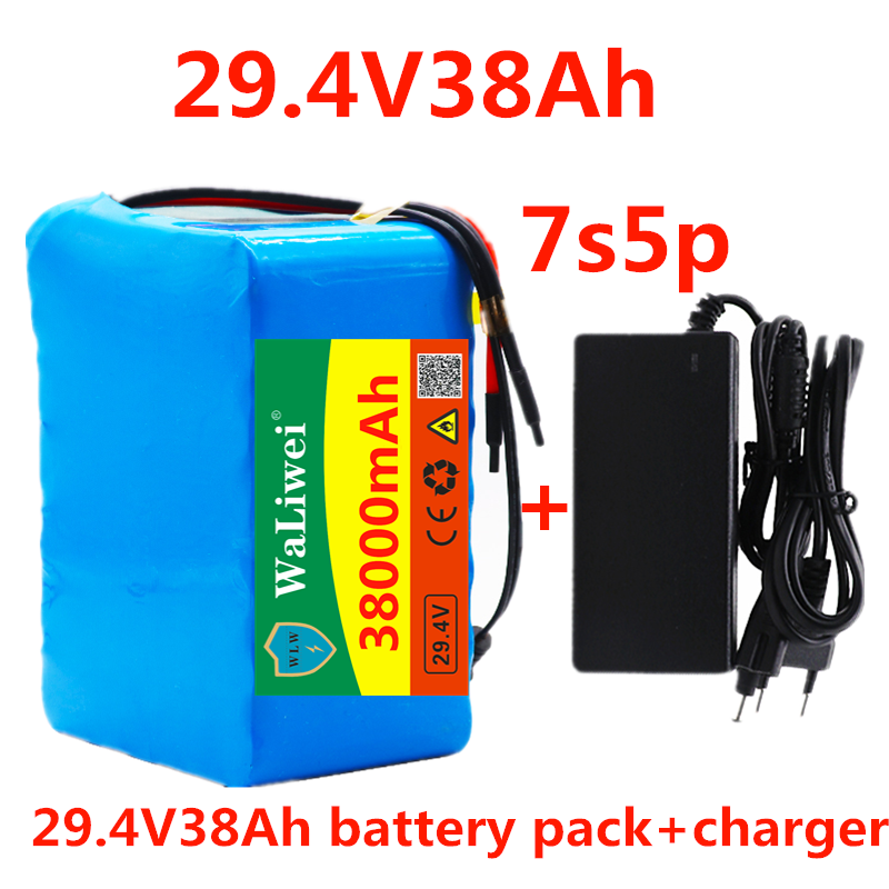 Battery-Pack Charger Lithium-Ion-Battery Electric-Bicycle 7S5P Wheelchair 38000mah 500w