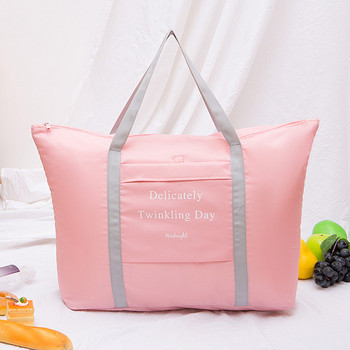 Portable Waterproof Folding Storage Bag Carry On Bag Clothes Luggage Organizer Packing Cube Bag Foldable Case Travel Pouch