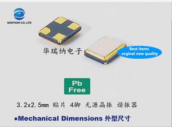30pcs 100% New And Orginal 3225 16.384M Passive SMD Crystal 16.384MHZ 3.2x2.5mm 4-pin