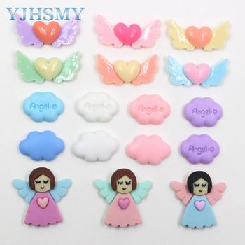 YJHSMY 20312-16 10 sztuk 35mm * 18mm różne styl kolorów ozdoby skrzydła anioła ozdoby ozdoby ozdoby materiały ręcznie robione diy tanie i dobre opinie