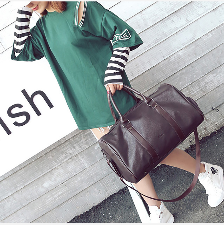 Men's Leather Sports Training Bag Durable Gym Bags For Men Women Fitness Military Training Handbag Leather Travel Luggage Tote05