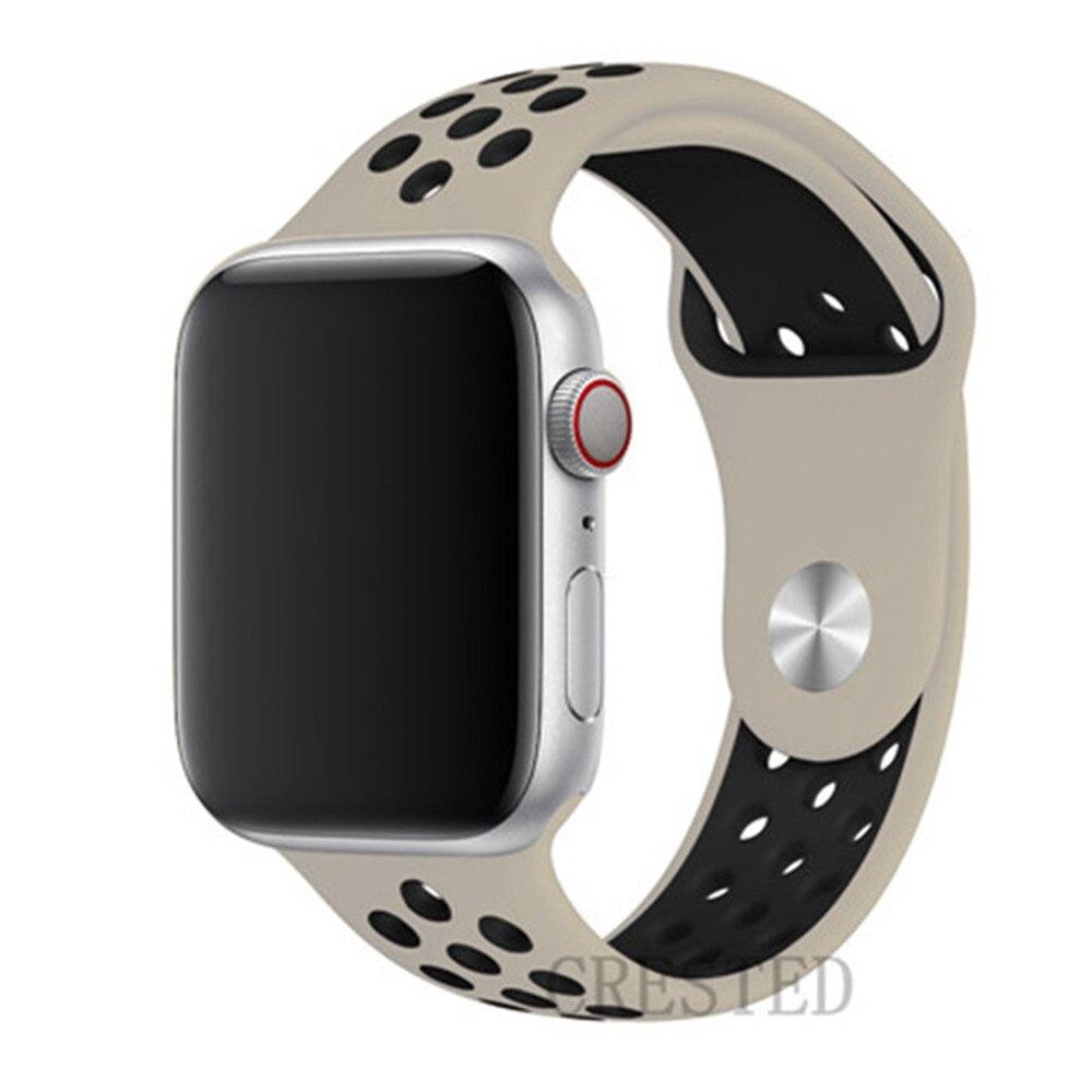 Спортивный ремешок для apple watch band 44 мм/40 мм apple watch 5 4 3 band iwatch band 5 42 мм/38 мм correa браслет ремень аксессуары для часов - Цвет ремешка: antique black 15