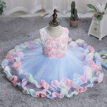 Children Girls Dress Summer Kids Girl Princess Wedding Dress 2-8 Years Girls Floral Birthday Party Dresses Ball Gown Vestidos