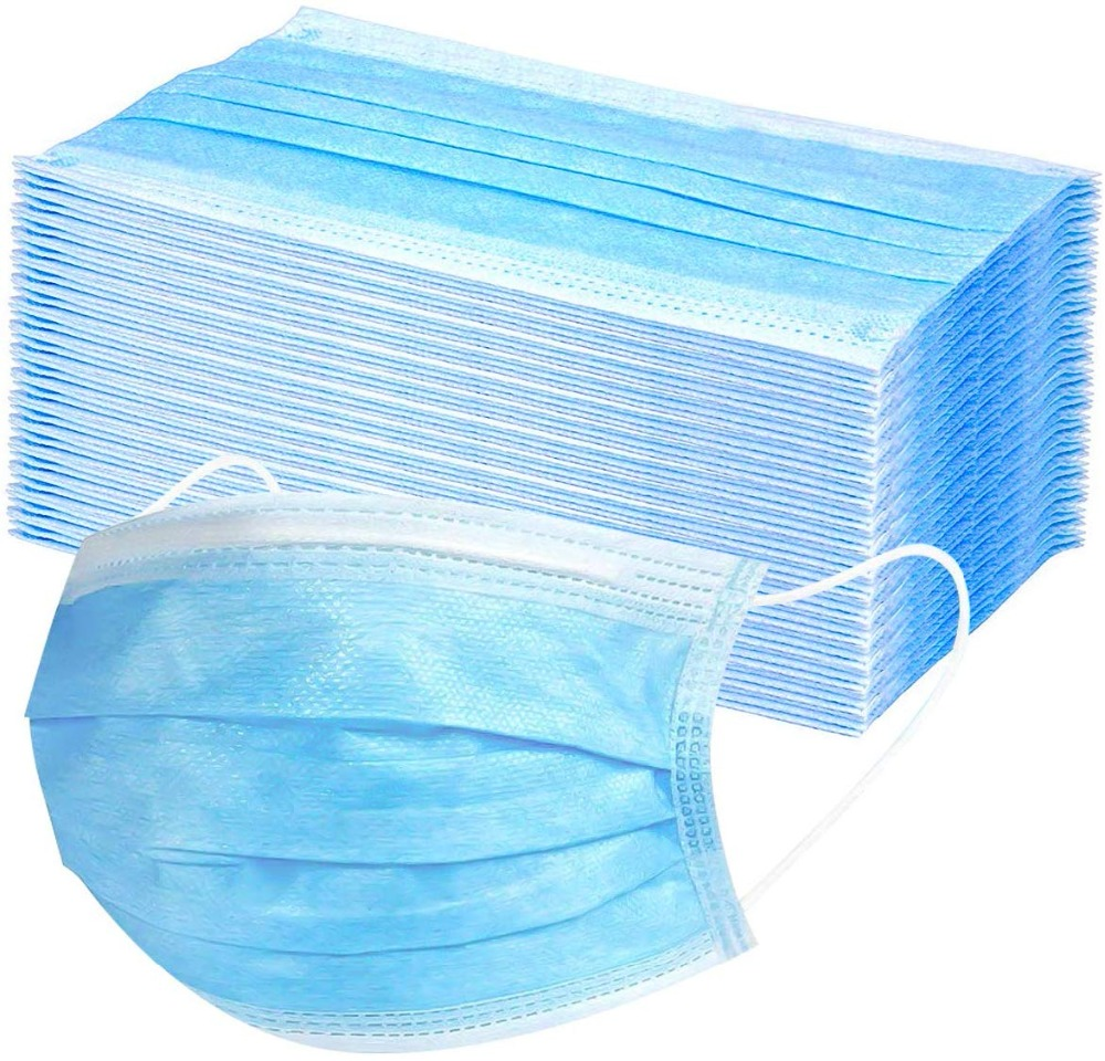 Filter 3-Layer Masks Daily Protective Mask Anti Dust Breathable Blue Face Mask Droplet Against Layer Woven Disposable Masker