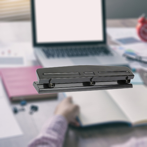 Image 5 - 3 ثقوب ورقة الناخس ، قابل للتعديل سطح المكتب ثقب لكمة ، قابل للتعديل تباعد القرطاسية ورقة ثقب ورقة فضفاضة الصفحة الداخلية. مكتب S