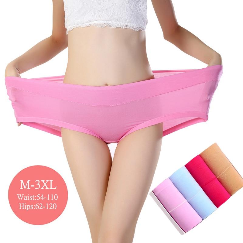 3 darab / csomag bugyi női alsónemű nagy méretű női alsónadrág Bamboo Comfort lélegző nagy méretű női bugyi