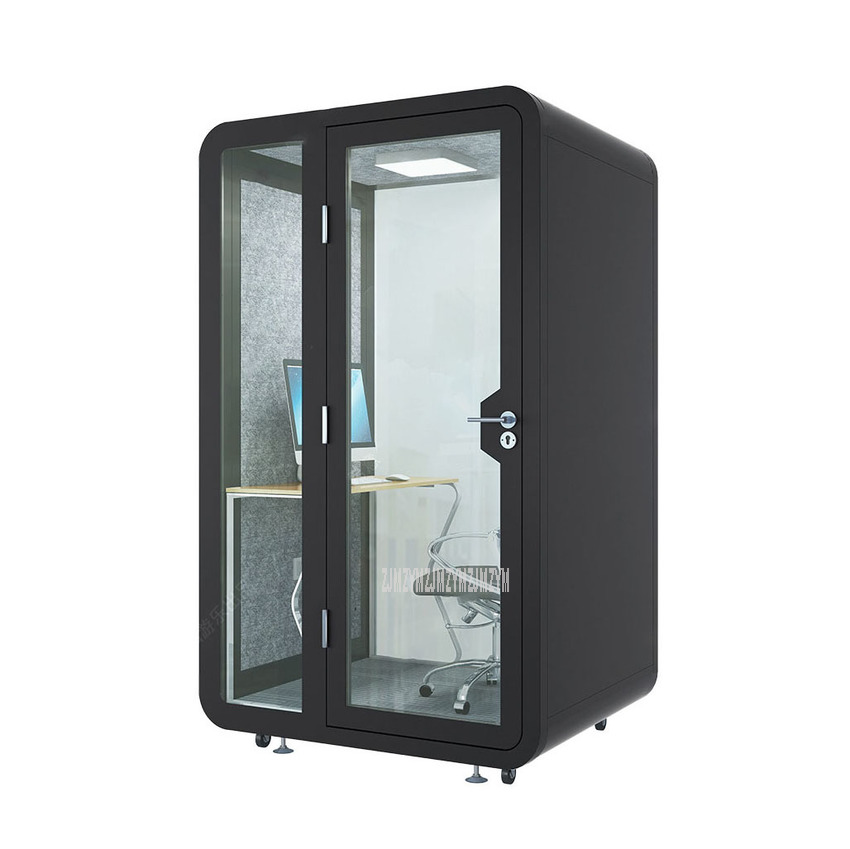 1.35*2.3m Mobile Conference Office Soundproof Telephone Booth Movable Live Video Room Musical Instruments Training Room