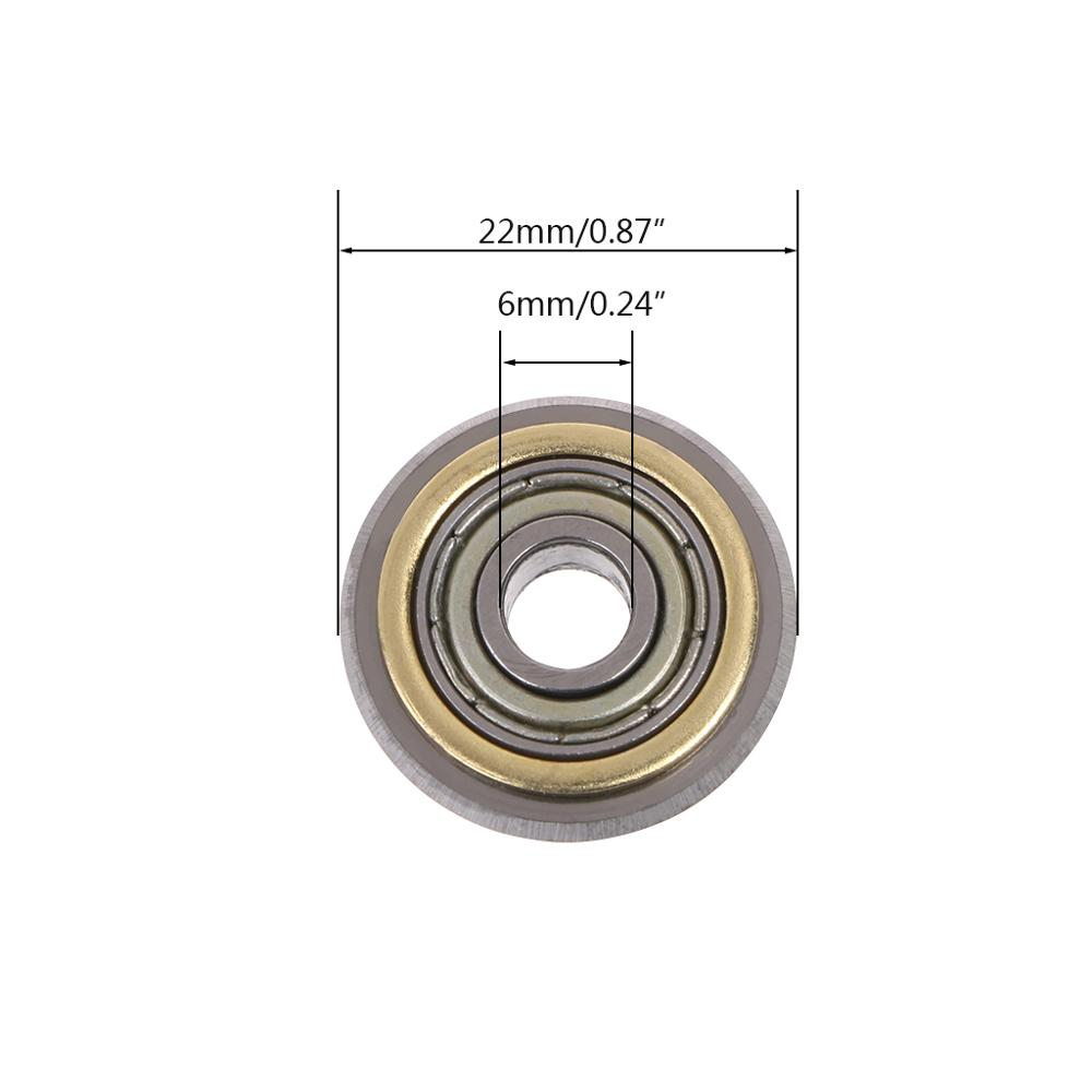 Купить с кэшбэком OOTDTY Rotary Bearing Wheel Replacement For Cutting Machine Manual Tile Brick Cutter Accessories 22mm