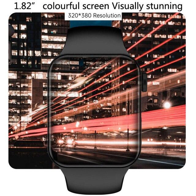 CHYCET Original IWO Series 7 Smart Watch Men 1.82 Inch HD Screen Dial call Smartwatch Women Heart Rate Monitor Watch PK HW22 W46 2
