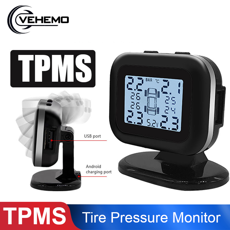 Car TPMS Tire Pressure Monitoring System Adjust Digital Display USB Charge Auto Tyre Pressure Sensor Monitor Tpms For Off-road