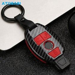 Чехол для ключей от машины из углеродного волокна для Mercedes Benz E C G M R S Class 204 212 216 SLS SLK GLK CLK E400, защитный чехол для ключей