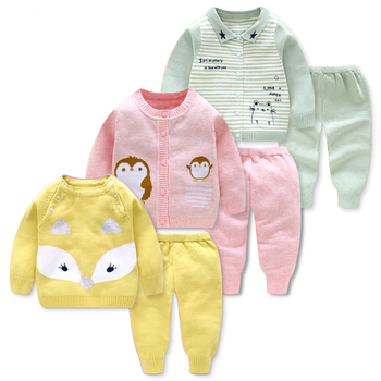 Baby Girl Winter Cloth Warm Sweater Knitting Toddler Clothes Set Children Clothing Sets Kids Autumn Winter Christmas Outfits Set wool teen kids clothing set autumn winter children clothing set sleeveless dress cape coats 2 pcs clothes suits girl outfits