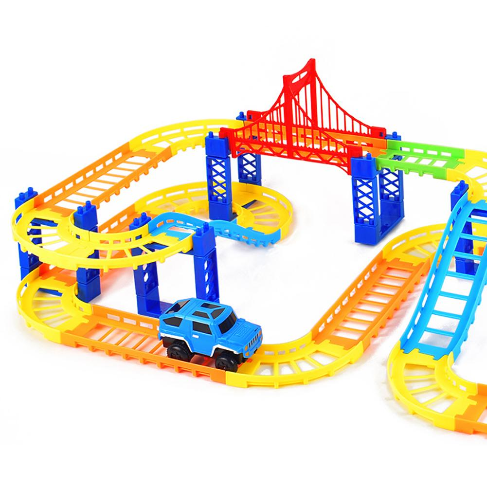 Funny Magic Track Plastic Electronic Car Kids Children Education Toy Car Rail Race Track Children's Toys For Boys Birthday Gifts