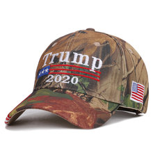 2019 Real New 1/2  Dad Hat Spot Camouflage American Election President Trump Baseball Outdoor 2020 Embroidery