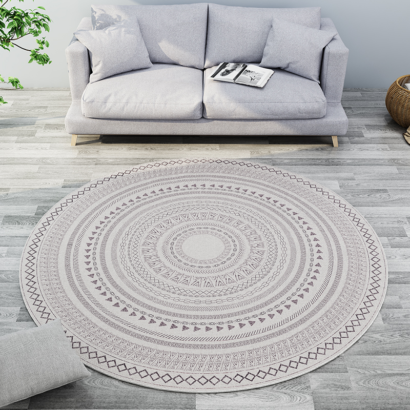 Round Carpet Livingroom Modern Bedroom