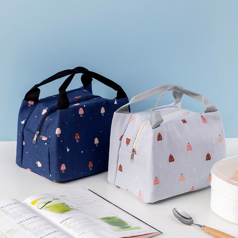 Sqinans Cartoon Fresh Cooler Bags Cute Printed Thermal Termo Lunch Bag Lunch Box Bags For Women Students Picnic Food Tote Bags