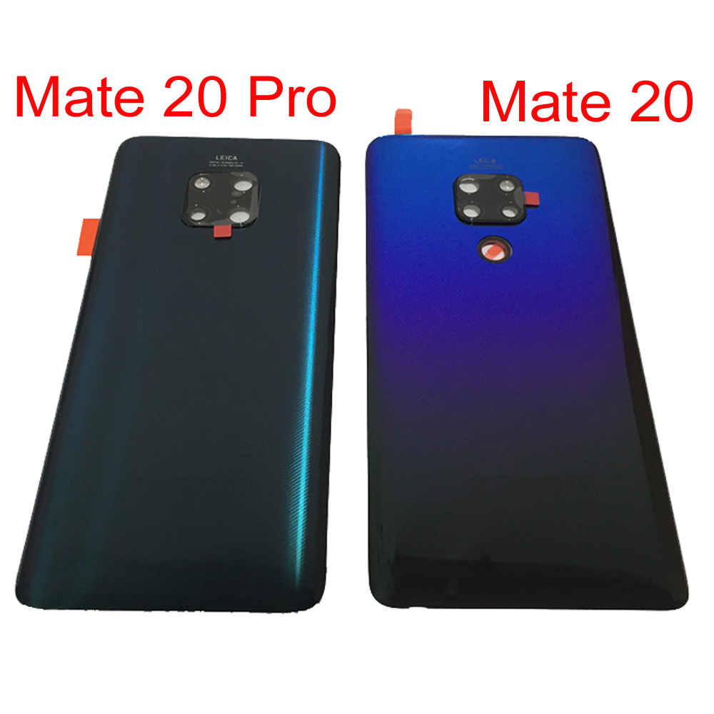 Huawei Mate 20 Pro Back Glass Battery Cover Case Housing + Camera Frame+Glass Lens