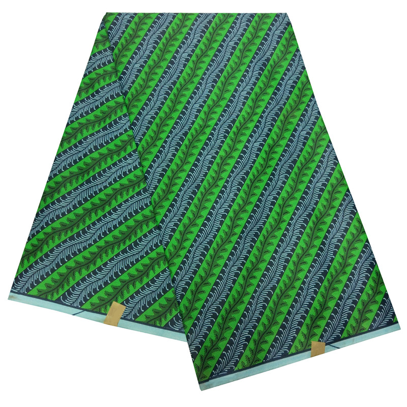 New Arrival High Quality Real Wax African Fabric Ankara Stripe African Print Fabric