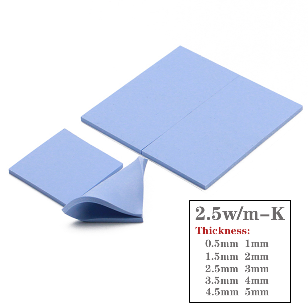 High quality Thermal Grease Pad 2.5W 100mm*100mm GPU CPU Shim Heatsink Cooling Conductive Silicone Pad Thermal Pads