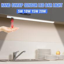 USB świetlówka LED światła podszawkowe LED kuchnia LED latarka Sweep Sensor szafa lampa 5V szafa lampa oświetlenie nocne 2835