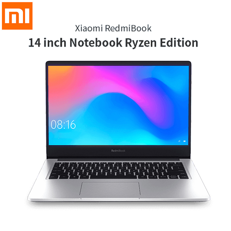 Original Xiaomi RedmiBook 14 Laptop AMD Ryzen 5 3500U/ Ryzen 7 3700U Windows 10 8GB/16GB RAM 256GB/512GB ROM Ultra Thin Notebook