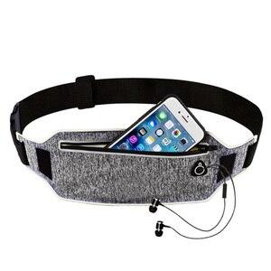 Professional Running Waist Pouch Belt Sport Belt Mobile Phone Men Women With Hidden Pouch Gym Bags Running Belt Waist Pack(China)