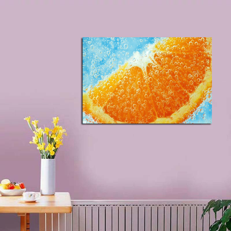 Oil Painting Oranges In Water Nature Canvas Painting Home Kitchen Decoration Frameless Wall Art Paint Pictures