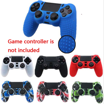 100 pcs Silicone Case Cover Skin Non-slip matte Grip Handle Case Cover Protection Case for Sony for PS4 Controller