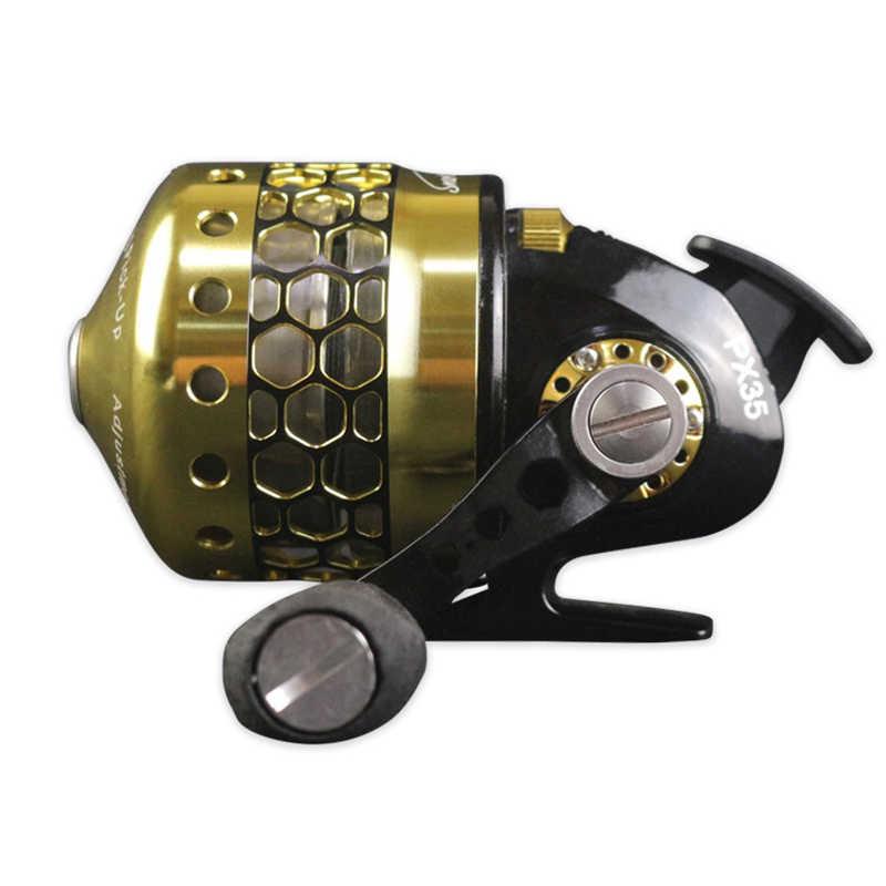 3.6: 1 نسبة السرعة دائم Spincast الصيد بكرة القوس مقلاع المنجنيق اطلاق النار الصيد مواد من الستانلس ستيل بكرة عجلة