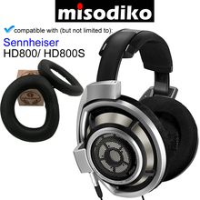 misodiko [Upgraded Sheepskin Leather] Premium Ear Pads Cushions Part with Plastic Clip   for Sennheiser HD800 / HD800S Headphone