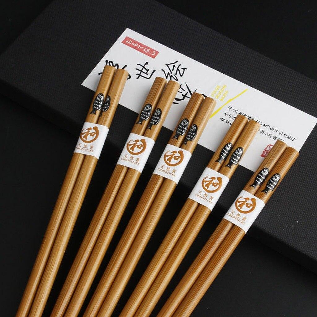 Купить 20 пар многоразовых палочек ручной работы из бамбука и натурального