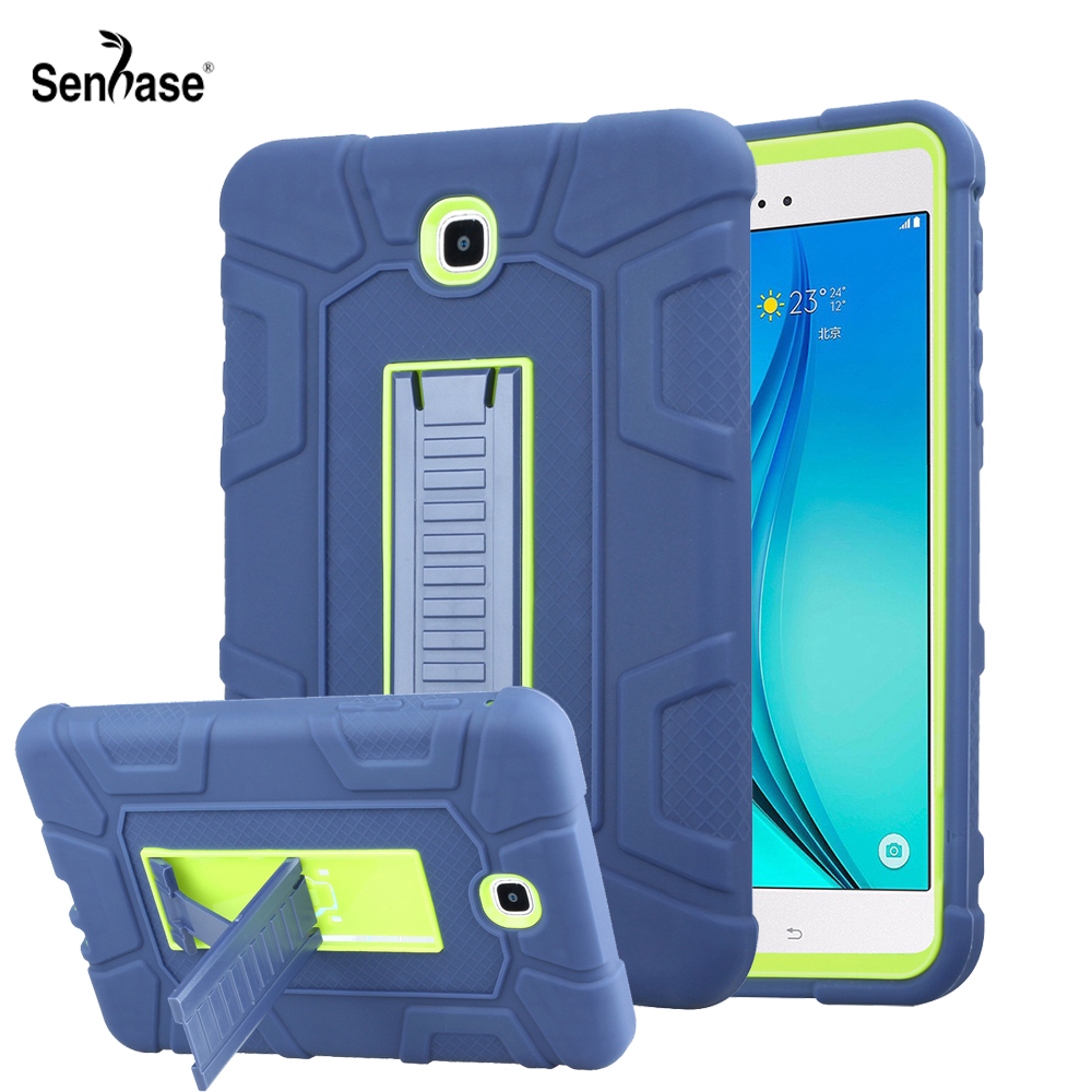 For <font><b>Samsung</b></font> Galaxy <font><b>Tab</b></font> <font><b>A</b></font> 8.0 inch 2015 <font><b>T350</b></font> T355 Case Kids Safe PC Silicon Hybrid Anti-fall Shockproof Stand Tablet Cover image