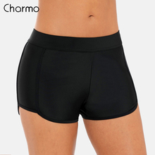 Charmo Women Swim Trunks Ladies Bikini  Swimwear Briefs Solid Color Side Strappy Swimming Bottom