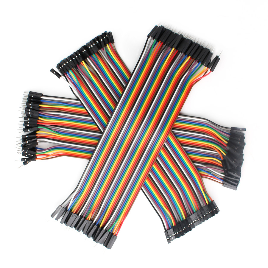 Кабель Dupont перемычка провода Dupont 30 см папа-Папа + мама-мама Перемычка провода Dupont кабель Arduino DIY комплект