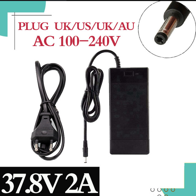 37.8v 2a INPUT100 240V OUT PUT DC: 37.8V 2A charger for 9series lithium li ion battery Quality Assurance Free Shipping