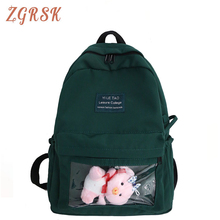 Women Nylon Transparent Backpack Bagpack Teenage Girl Cute Back Pack Schoolbag Plastic Student Fashion Backpacks Bookbags