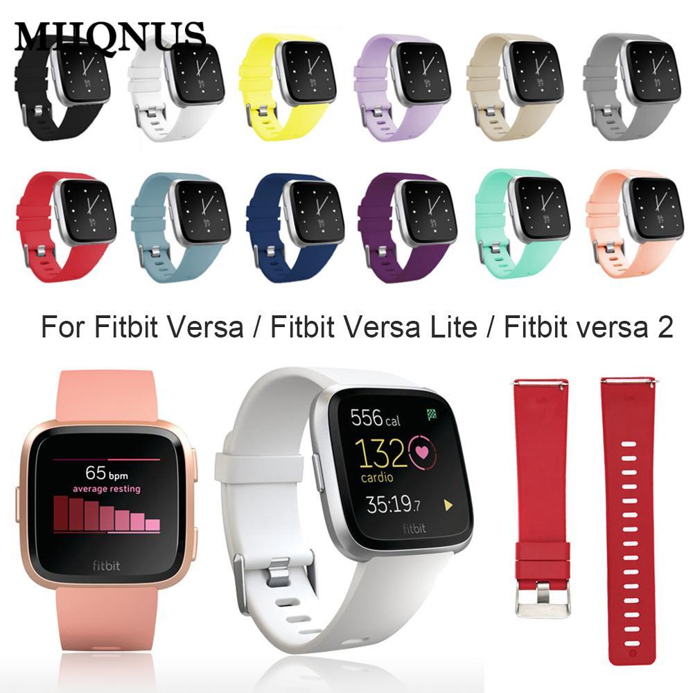 Классический мягкий ремешок для часов, сменный ремешок для браслета Fitbit Versa Lite Versa 2, сменный ремешок карамельных цветов