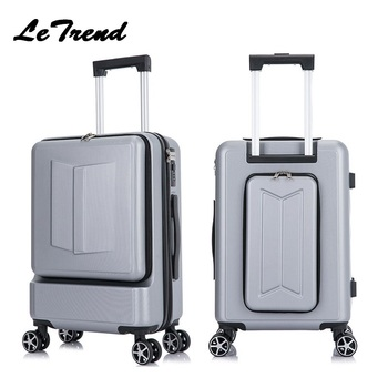 letrend-new-business-24-inch-front-pocket-rolling-luggage-trolley-password-box-20-boarding-suitcase-women-travel-bag-trunk