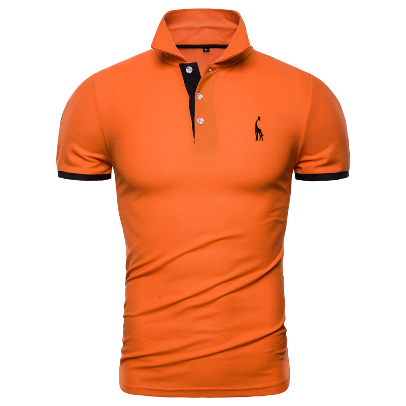 Dropshipping 13 Colors Brand Quality Cotton Polos Men Embroidery Polo Giraffe Shirt Men Casual Patchwork Male Tops Clothing Men 12