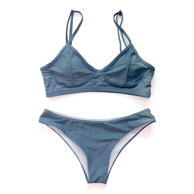 Sexy Solid Thong Brazilian Push Up Bikini Set 2020 Swimsuit Women Swimwear Beach Wear Swim Bathing Suit 4