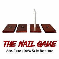 The Nail Game (4 Nails) Absolute 100% Safe Stage Magic Tricks Illusions Derren Brown Classic Magic Show Mentalism Magic Gimmick