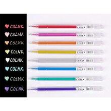 8pcs Fine point color liner pen set Transparent Bling bling highlighter marker drawing pens Album art Stationery School A6880