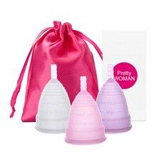 Grau médico silicone copo menstrual feminino senhora período menstrual copo coppetta metruale coupe higiene feminina copo menstrual