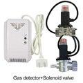 220VAC Keuken CH4 Natuurlijke gaslek detector Magnetische magneetventiel te afgesneden kolen gas Fire alarm sensor voor thuis beveiliging