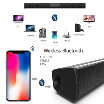 Home theater HIFI Portable Wireless Bluetooth Speakers column Stereo Bass Sound bar FM Radio USB Subwoofer for Computer TV Phone 3
