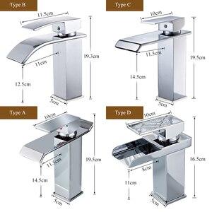 Image 2 - Robinets de mélangeur de lavabo montés sur le pont, mitigeur dévier de salle de bains robinets deau chaude et froide robinet de lavage à une poignée robinets dévier Torneira