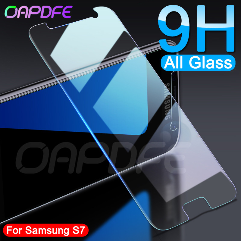 9H Protective Glass On The For Samsung Galaxy S7 S6 S5 S4 S3 Mini Samsung Note 5 4 3 Screen Protector Tempered Glass Film Case
